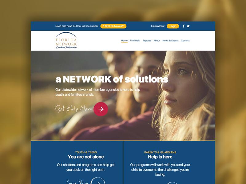 Florida Network ux user interface user experience ui theme web design web wordpress