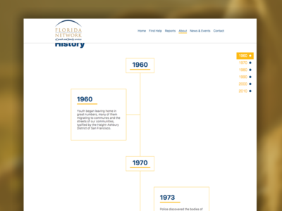 FLN Timeline timelilne wordpress web design web ux user interface user experience ui theme