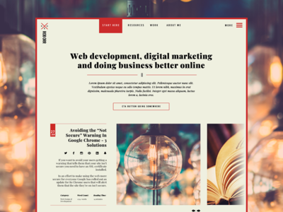 new home page web design wordpress blog design