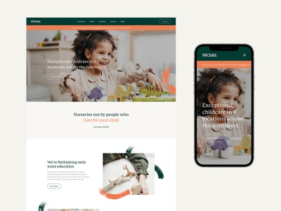 MiChild header logo branding web design concept responsive minimal design website ux ui