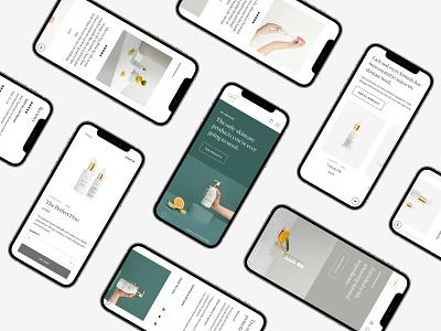 MYSA typography ecommerce web design clean web minimal design website ux ui