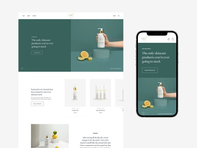 MYSA header home ecommerce clean web minimal design website ux ui