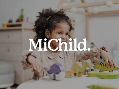MiChild: Behance case study behance user interface user experience typography vector logo illustration minimal design website ux ui