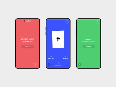 HexTest gif animation interaction game responsive branding logo clean web minimal design website ux ui