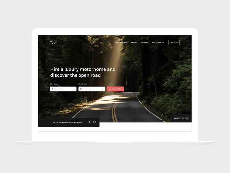 Tour Macbook landing homepage simple header sanserif typography detail home concept web web design clean minimal design website ux ui