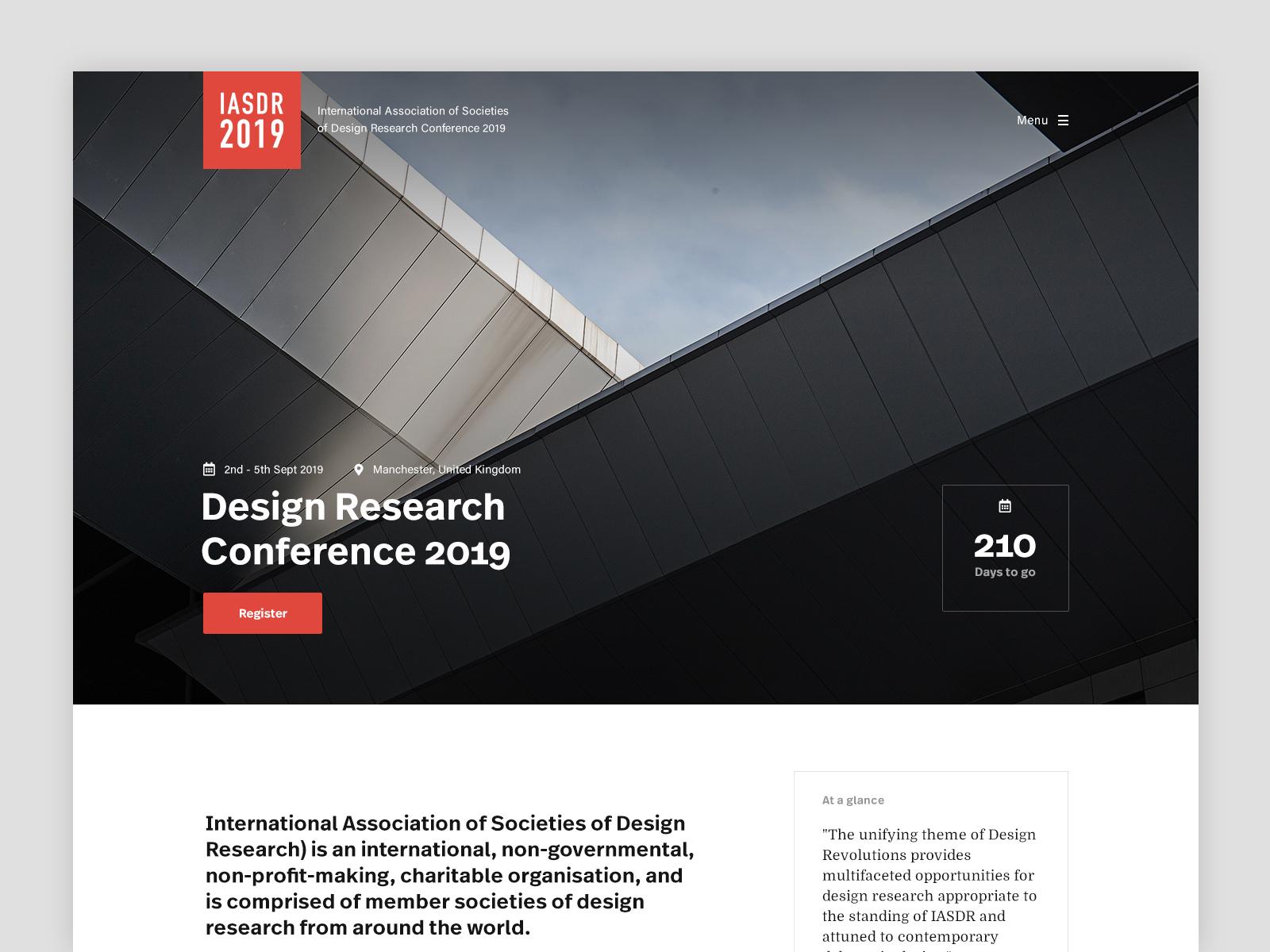 Design Conference Header user experience user interface typography sanserif home header concept web design web clean minimal design website ux ui