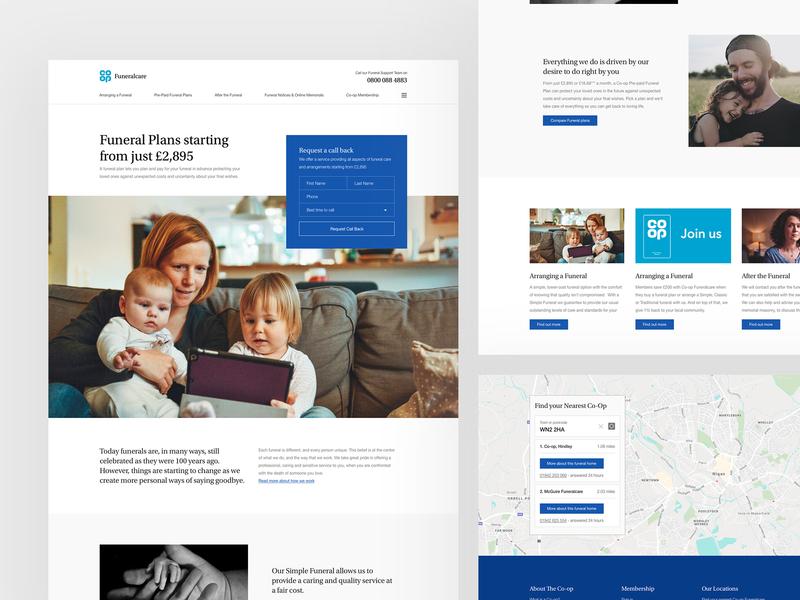 Co-op Funeralcare Concept serif typography home concept web design web clean minimal design website ux ui