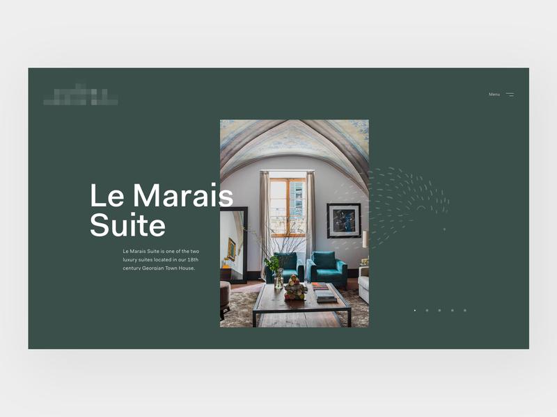 Luxury Hotel Header sanserif detail typography home header concept web design web clean minimal design website ux ui