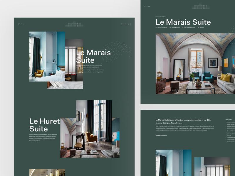 Luxury Hotel - Room Detail detail sanserif typography home header concept web design web clean minimal design website ux ui