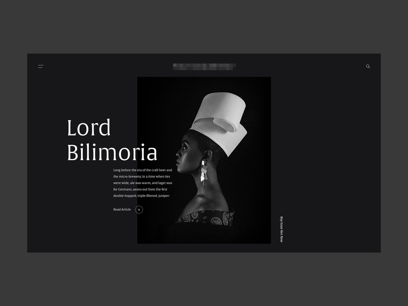 Magazine Header serif typography home header concept web design web clean minimal design website ux ui