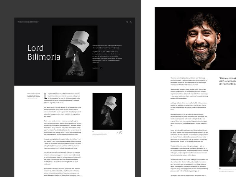 Article Detail serif detail magazine article typography concept web design web clean minimal design website ux ui