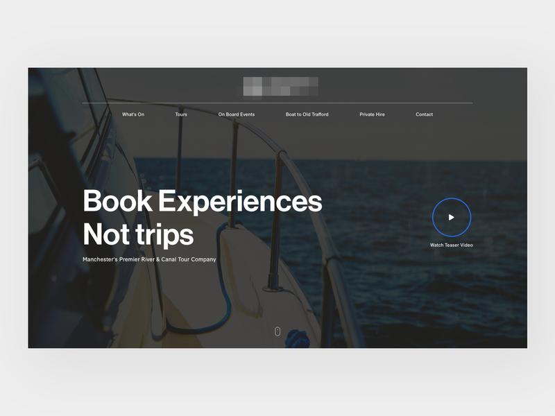 River Cruises Header sanserif typography home header web design web clean minimal design website ux ui