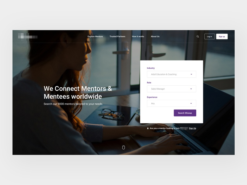 Find a Mentor sanserif typography home header concept web design web clean minimal design website ux ui