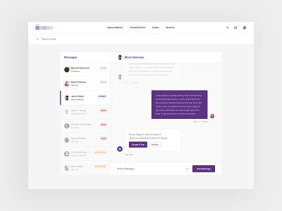 Direct Messaging mentoring mentors mentor inbox messaging direct message typography concept web design web clean minimal design website ux ui