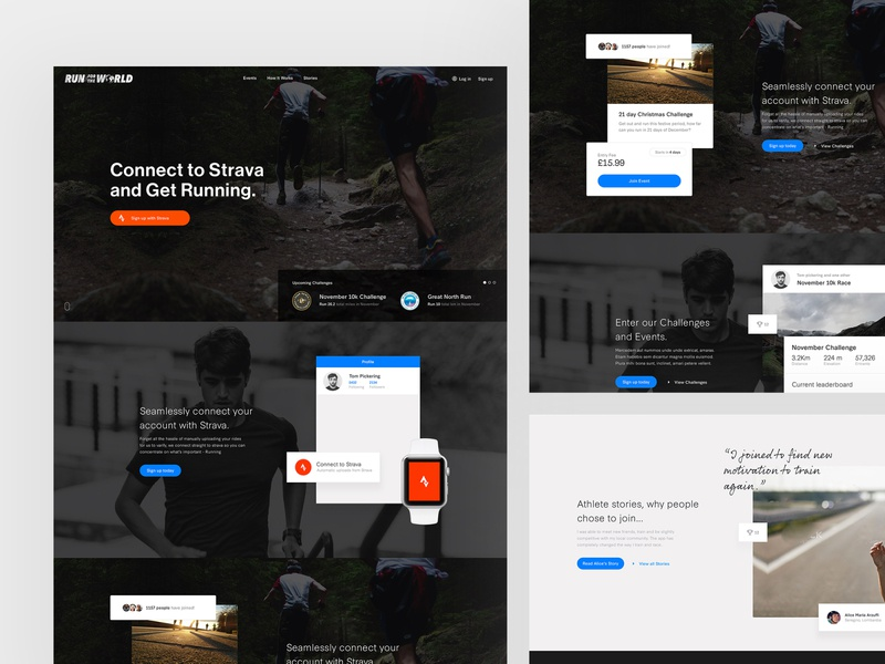 Run for the World user experience user interface typography web design web clean minimal design website ux ui