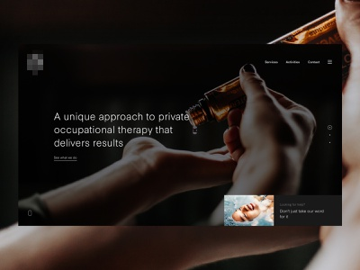 Therapy Hero Header header typography concept web design clean web minimal design website ux ui
