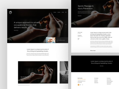Therapy Elements concept typography user interface web design clean web minimal design website ux ui