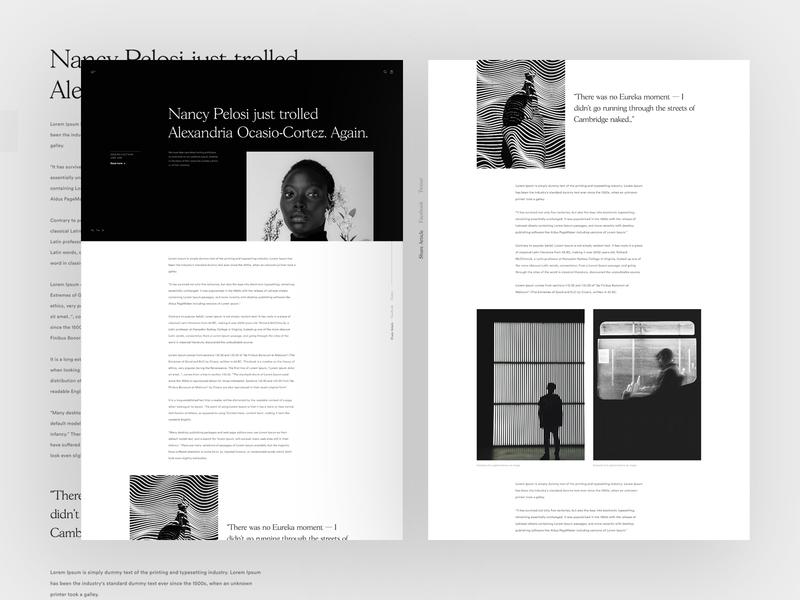 Article Detail detail design web web design clean minimal blog user interface article ui ux concept typography news header