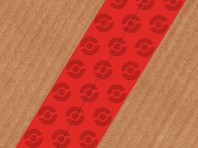Pokeball Packing Tape stickermule packing tape pokemon