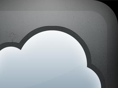Shiny Cloud Icon cloud ios shiny stone texture reject