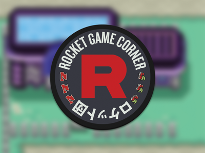 Rocket Game Corner Coaster stickermule coaster pokemon rocket team