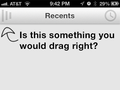Help for Cookies! recents drag right app ios i give you cookies