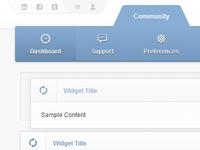 Web Portal Tabs & Widgets