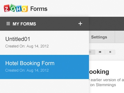 Zoho forms - Form Builder - 2012