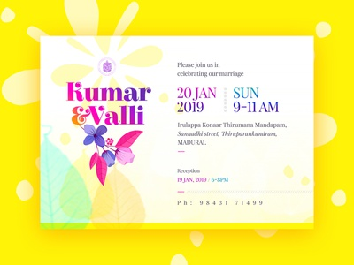 Wedding Card Design clean design ecard modern design traditional art yellow fresh design fresh colors indian wedding invitation design wedding invitation wedding card