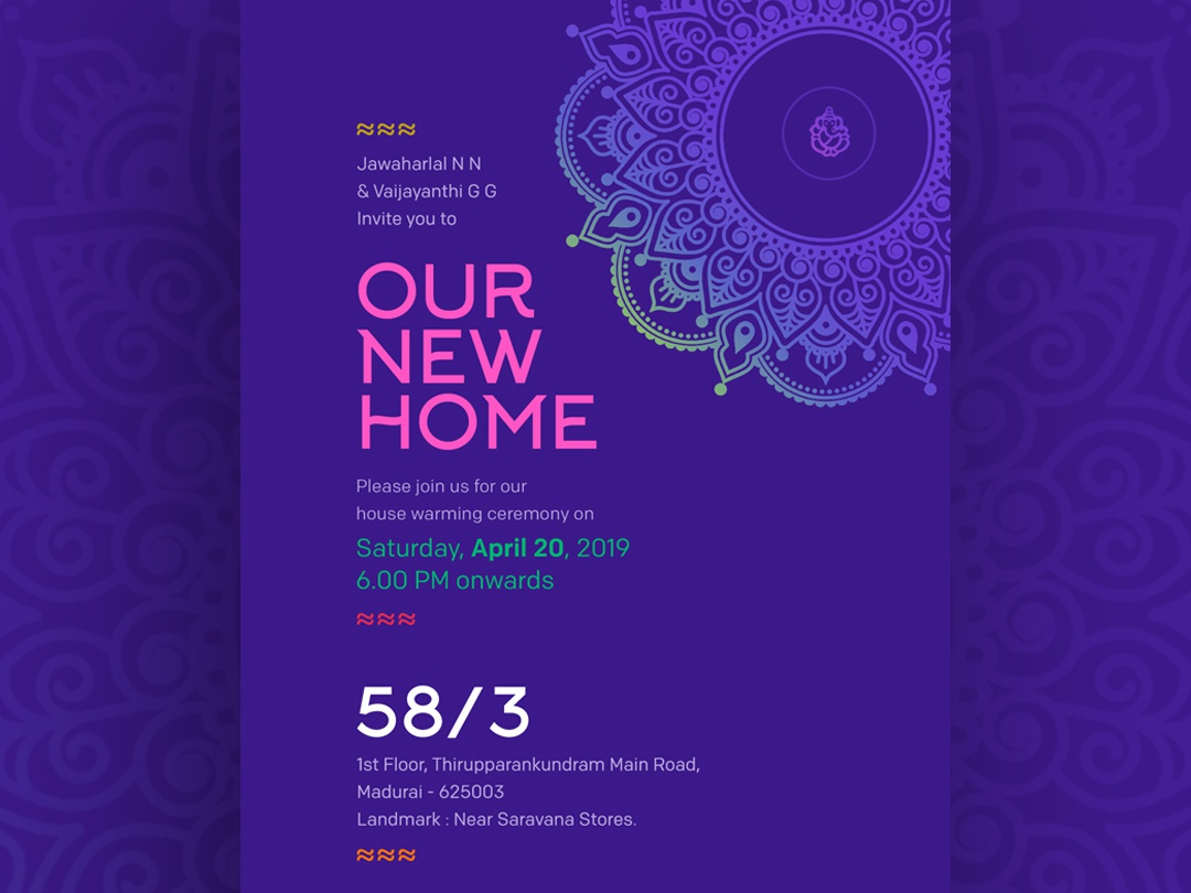 House Warming Invitation Design By Suresh Babu On Dribbble