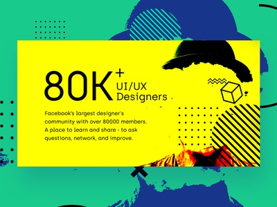 Facebook cover design - UI /UX designers FB community