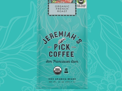 Jeremiah's Pick Coffee coffee packaging