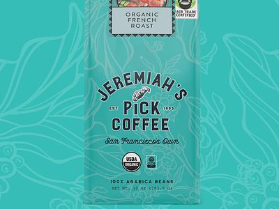 Jeremiah's Pick Coffee coffee packaging