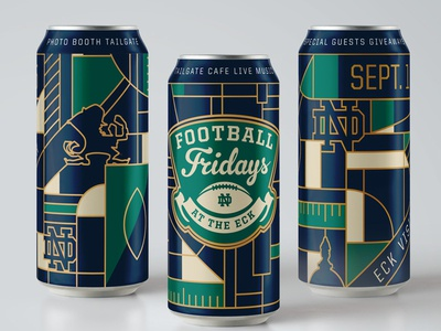 Football Fridays Cans cans football college sports notre dame