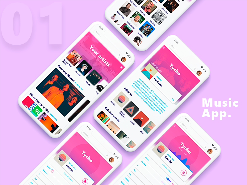 #01 Music App mobile product design musicapp music design app ui uiweekly uichallenge