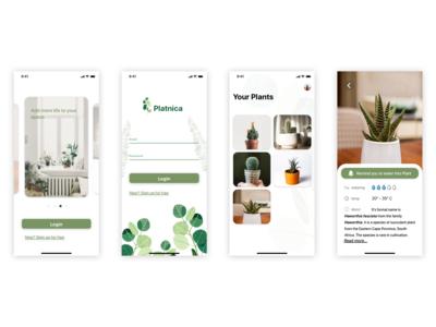 Platinca App UI