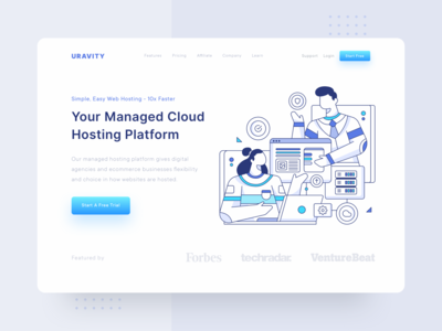 Header Illustration for URAVITY - Hosting Landing Page