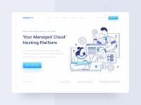Header Illustration for URAVITY - Hosting Website