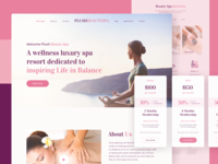 Plush Beauty Spa Landing Page