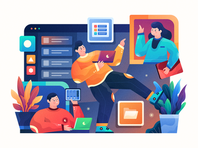 Header Illustration for Nirvana Landing Page