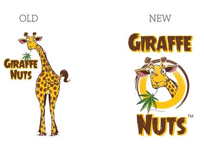 Giraffe Nuts Rebrand