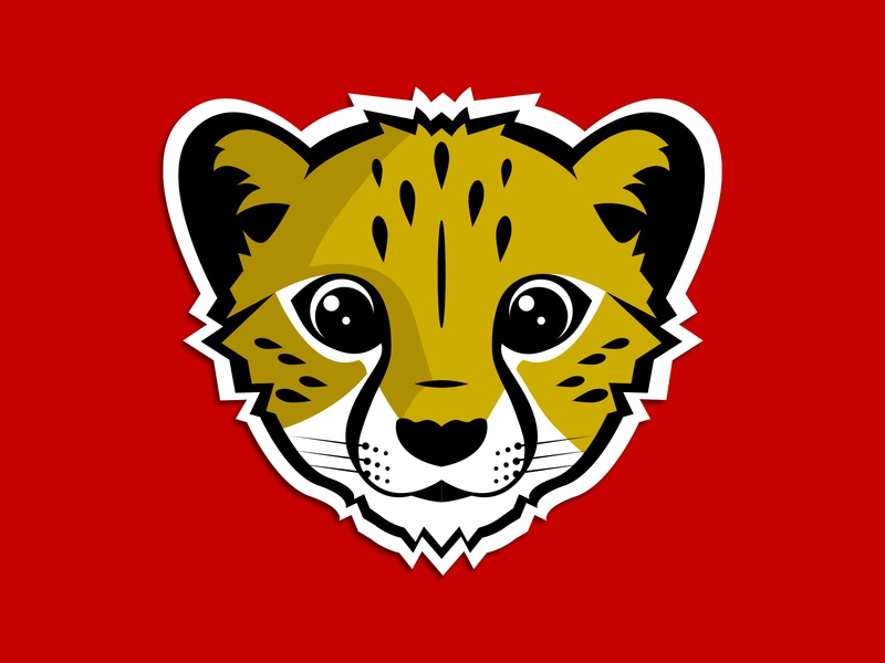 Cheetah Mascot cub elementary school logo kitty kitten cute mascot design brand fast wildcat cat mascot cheetah