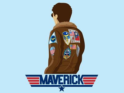 Maverick1 vector art jet fighter jet pilot navy military patch patches hollywood movies movie actor tom cruise jacket mascot mavericks maverick top gun topgun