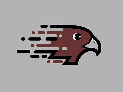 Hawk school logo logo flying beak falcon eagle fast bird elementary mascot hawk