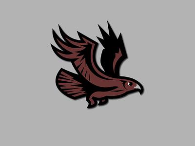 Hawk in Flight logo design logo flight fly wings feathers mascotlogo hawks school mascot elementary school mascot design bird falcon eagle flying bird flying mascot hawk