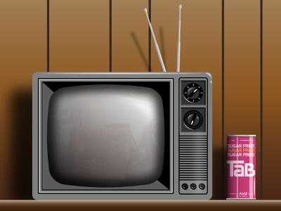 I miss the 80s vector art stranger things flashback reflective reflection panelling wood panel wood tube pop can soda tab soda tab 80s 1980s vintage retro television tv