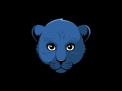 Baby Panther Mascot brand logo cats blue panthers elementary mascot character mascot design mascot logo mascot cat panther