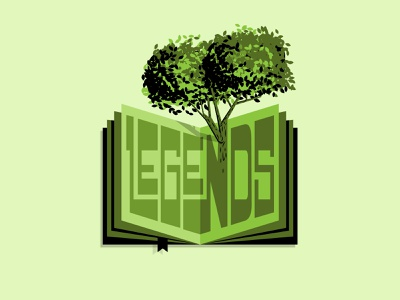 Live Oak Legends mascot education elementary school elementary logo design logo typography popup open book pages story library books book oak oak tree live oak legends