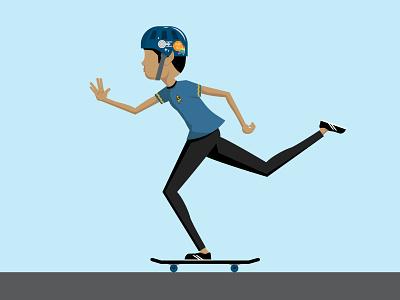 Skater Spock treky cosplay enterprise live long and prosper sticker space vulcan ride skating skater skate skateboarding skateboard mr spock spock star trek