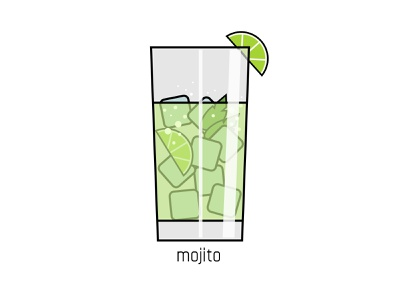 Mojito lime ice glass mint alcohol drink cocktail mojito